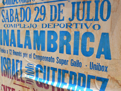 sports event sign on calle 66