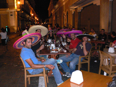 tourists at la paranda restaurant