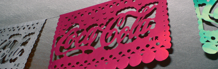 papel picado with coca-cola for fiesta patria