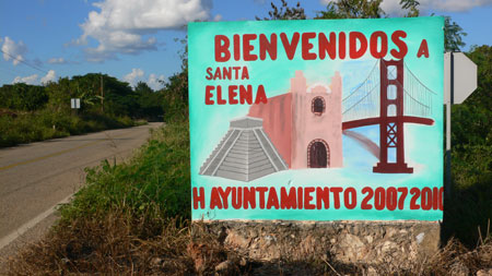the santa elena welcome sign