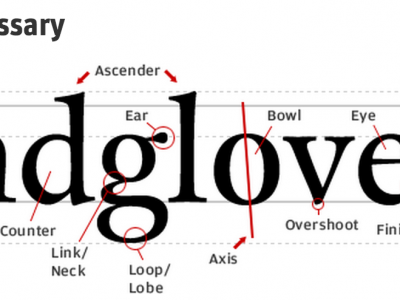 Typographer's Glossary from Fontshop