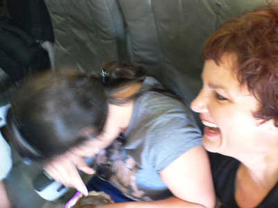 Maria and Gaby on JetBlue.