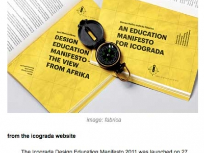 icograda design education manifesto screenshot