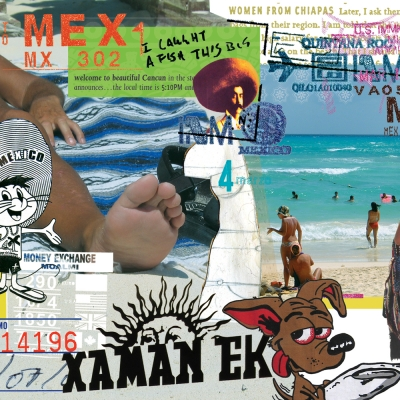 Visual Pleasure, Playa del Carmen (collage)