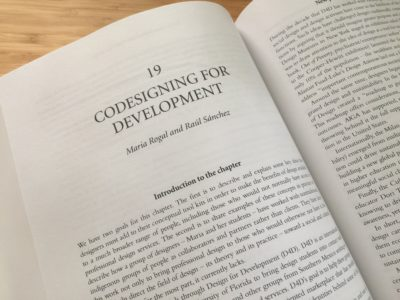 photo of chapter spread, co-designing for development